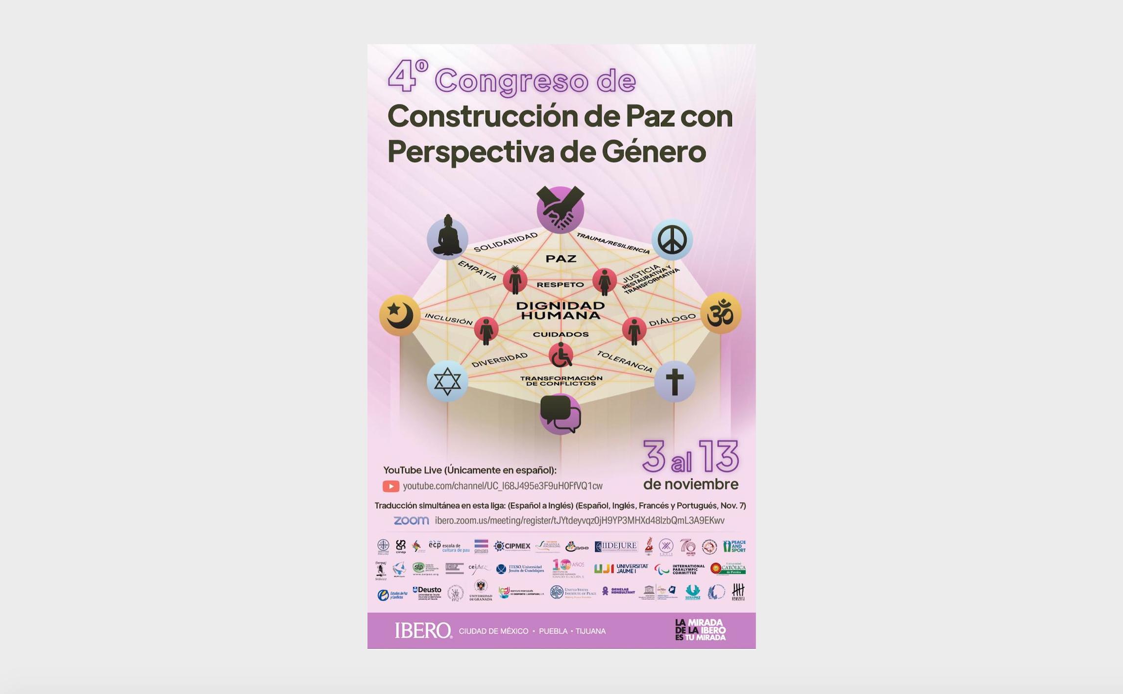 CIPMEX Participó en el «4º Congreso de Construcción de Paz con Perspectiva de Género»
